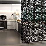 Yizunnu Raumteiler zum Aufhängen, Holz, Kunststoff, Weiß, 40 x 40 cm, 4 Stück, Schwarz, 40 x 40 cm