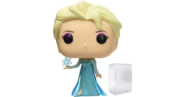 Disney: Frozen Bundled with Pop Box Protector Case Elsa #82 Vinyl Figure Funko Pop