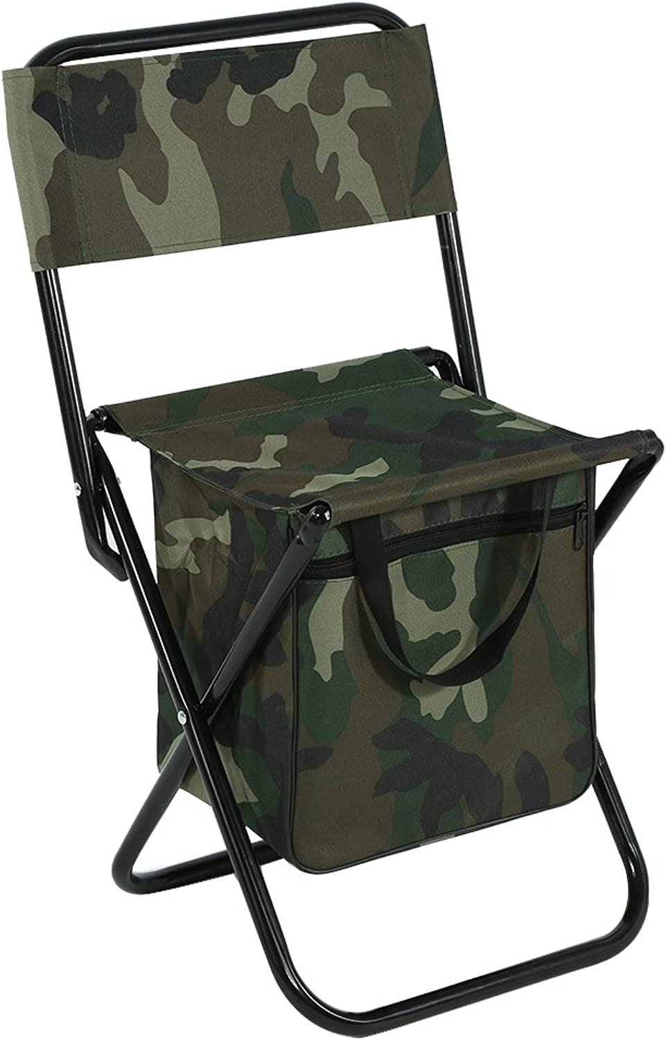 Fishing Chair,Asixx Foldable Outdoor Camping Fishing Chair Convenient Carry Seat Made Steel Pipes and 600D Durable Oxford Fabric, Camouflage color