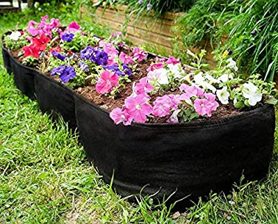 Large Raised Garden Bed - 135 Gallon Flower or Vegetable Grow Bag for Gardening - Non-Toxic Fabric Planter Beds with Plant Tags