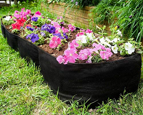 Kenley Fabric Raised Garden Bed - 135-Gallon Smart Planting Container Grow Bag Planter Pot for Plants, Flowers & Vegetables - with Plant Tags Set