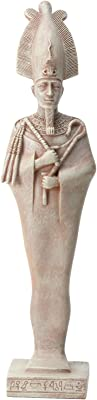 Long Figurine Statue of Ancient Osiris in Traditional Costume Design