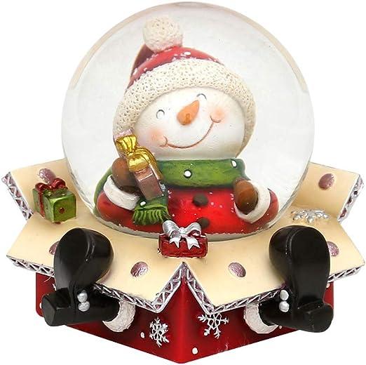 Bola de nieve original y divertida, tamaño aproximado:6,5 x 6 cm; 4,5 cm de diámetro, Muñeco de nieve, Ø 4,5 cm: Amazon.es: Hogar