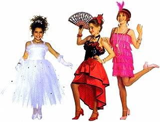 Butterick 3660 Sewing Pattern Princess Flapper Flamenco Spanish Dancer Childrens Girls Costume Size 4 thru 14