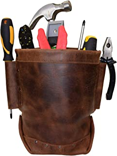 Hide & Drink, Heavy Duty Leather Tool Pouch, Organizer Bag, Holder, Work Essentials, Handmade Includes 101 Year Warranty :: Bourbon Brown