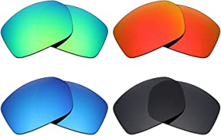 Mryok 4 Pair Polarized Replacement Lenses for Spy Optic Touring Sunglass - Stealth Black/Fire Red/Ice Blue/Emerald Green