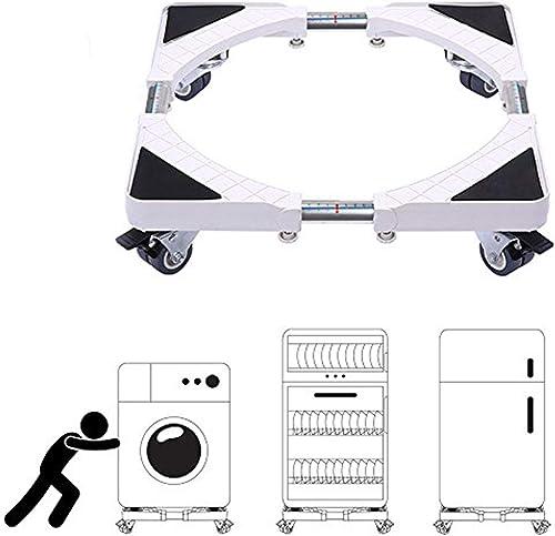 Base de Machine à Laver Réglable 45cm-70cm Support Charge 200 kg Réduction du Bruit Effet pour Réfrigérateur/Machine ...