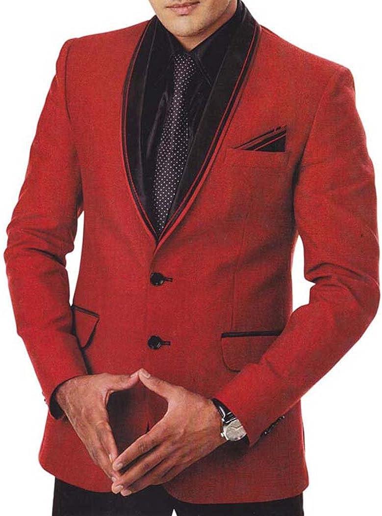INMONARCH Mens Red Jute 5 Pc Tuxedo Suit Shawl Collar TX942