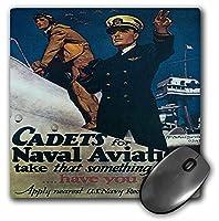3drose LLC 8x 8x 0.25インチマウスパッド、ヴィンテージCadets for海軍米国海軍航空募集ポスター( MP _ 149422_ 1)