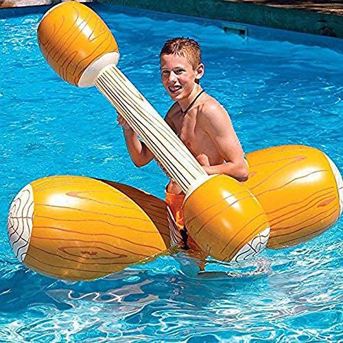 iScooter, 4 pezzi gonfiabili per piscina da combattimento, galleggiante, per 2 giocatori, adulti e bambini, in piscina, per sport acquatici, giochi galleggianti