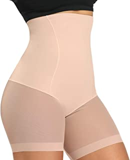 WOWENY Tummy Control Shapewear Shorts High Waist Slip Shorts for Under Dress Women Anti Chafing Underwear Panty(Medium)