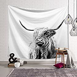 Black & White Yak Tapestry