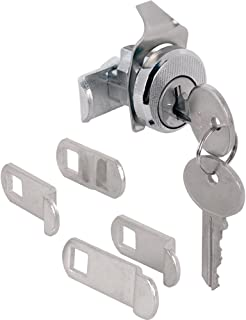 Prime-Line Products S 4533 Tumbler Lock, Nickle Finish w/Dust Cover, ILCO 1003M, Hudson Keyway, Opens Counter-Clockwise