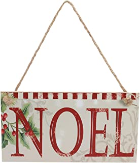 SUPVOX Hanging Wooden Sign Board Pendant for Christmas Festival Party (Noel) 1pc