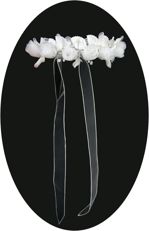 Girls 1st Communion Wedding White Veil Tulle Headpiece 19.5