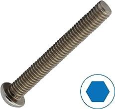 Tornillos de cabeza plana ISK ISO 7380-1, 50 unidades, acero inoxidable A2 V2A