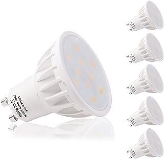 LOHAS GU10 6Watt LED Beautiful Lamps 3000K Warm White Colour 50Watt Replacement For Halogen Bulb,5 Pack,Non Dimmable