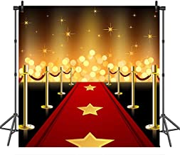 COMOPHOTO Red Carpet Photography Backdrop Wedding Birthday Event Banner Photo Studio Background Prop 8x8ft