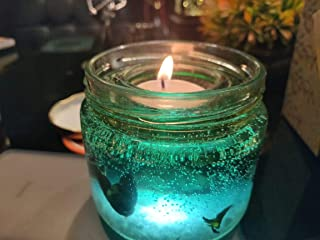 Beverly Big Cute Romantic Glass Jelly Round Glass Decor Gel Wax Party Tealight Candles Mould