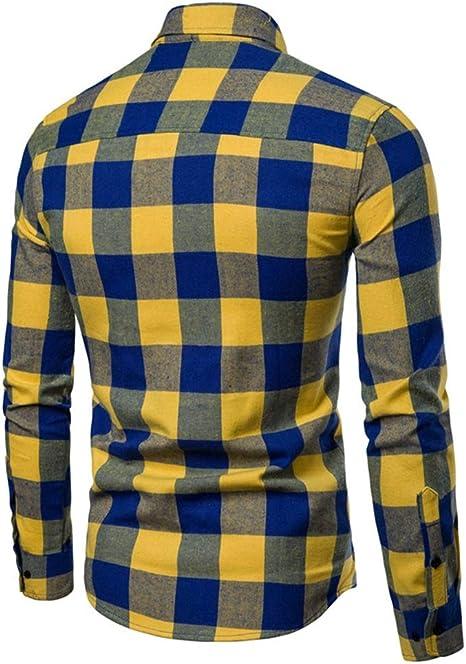 Camisas casuales con botones para hombres Coser-Qui ...