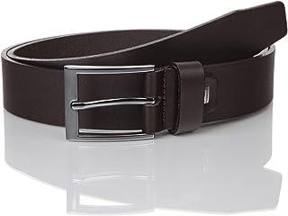 LINDENMANN Mens leather belt/Mens belt, business belt, full grain leather belt, dark brown