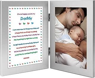 Daddy Gift from Newborn, New Dad Sweet Poem, Add Photo