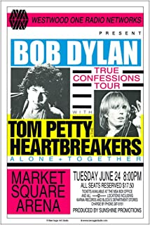 Raw Sugar Art Studio Bob Dylan/Tom Petty 1986 Indianapolis Concert Poster