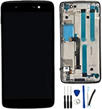 LCD + TP Replacement for Alcatel One Touch Idol 4 6055P OT6055 6055U 6055B 6055H 6055Y 6055K 6055 DTEK50 Display Touch Screen Digitizer Assembly (Black W/Frame)