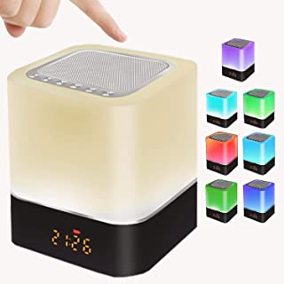 Sponsored Ad - Bluetooth Speaker, Bedroom Alarm Clock,Touch Control Bedside Lamp Dimmable Warm Light Lamp 2400mAh Battery ... photo