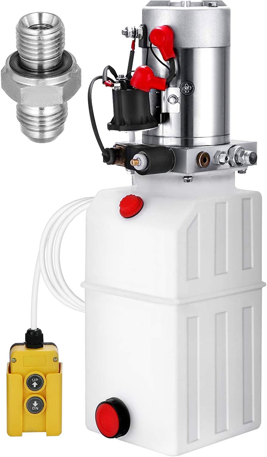 VEVOR 6 Quart Hydraulic Animer and price revision favorite Power Unit Pump Single Acting