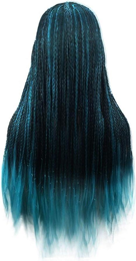 Dunkelbraune haare mit blauen spitzen