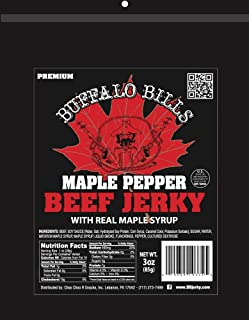 Buffalo Bills 3oz Premium Maple Pepper Beef Jerky Pack (beef jerky made with real maple syrup)