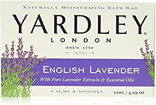 Yardley London Moisturizing Bar English Lavender with Essential Oils 4.25 oz (Pack of 24)