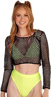 Women's Sheer Mesh Crop Top Shirts for Festivals, Raves, Clubwear
