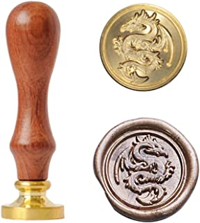 UNIQOOO Arts & Crafts Vintage Flying Dragon Sealing Wax Seal Stamp - Perfect Gift Ideas for Friends, Relatives, Artistic Types, Movie Lover