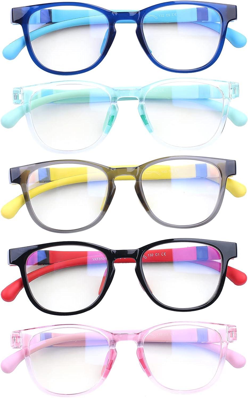 BONCAMOR Bombing free shipping 5 Pack Blue Light Recommended Blocking Glasses Boys Anti Eyes Girls