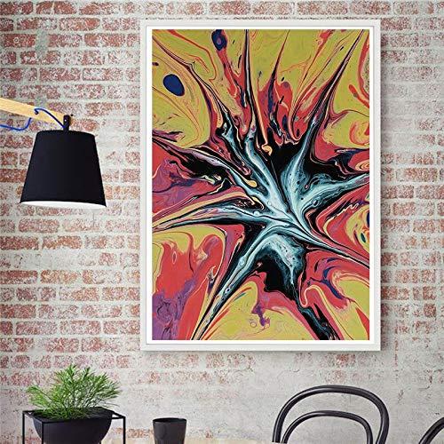 wZUN Pintura al óleo Abstracta Mural decoración de la Sala de Estar Pintura decoración de la Pared Cartel de Arte Mural 60x90 Sin Marco