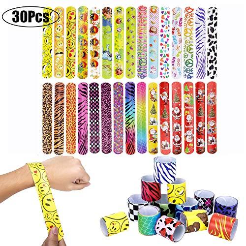 LATERN 30 Pezzi Braccialetti per Bambini, Braccialetti Slap Ragazzi e Ragazze Birthday Party Supplies Favors Toys, bomboniere per Bambini