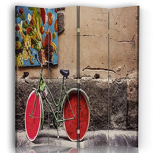 LegendArte Paravento Raumteiler für Innenräume, Frische-Suche, 145 x 180 (4 Panele)
