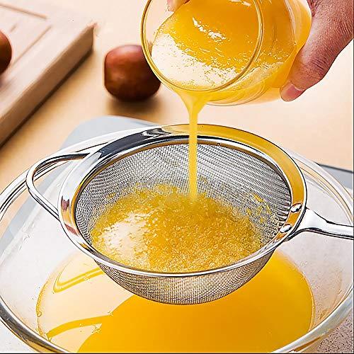 Getherad Fijnmaszeef, roestvrij staal, hoge kwaliteit, zeef voor pasta, rijst, fruit en groenten