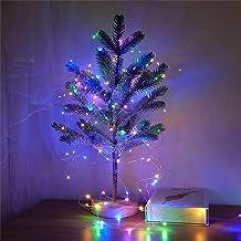 Feili 2 m, 20 światełek zawsze jasne kolorowe światła LED, drut miedziany, dekoracja bożonarodzeniowa, łańcuch świetlny