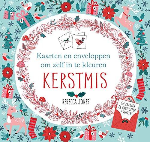 Kerstmis: kaarten en enveloppen om zelf in te kleuren
