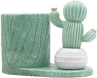 Pen Holder Creative Fresh Office Desktop Home Decoration Decompression Diary Pen Holder Ornaments Boy Girl Pen Pot Green 11 * 6 * 7Cm