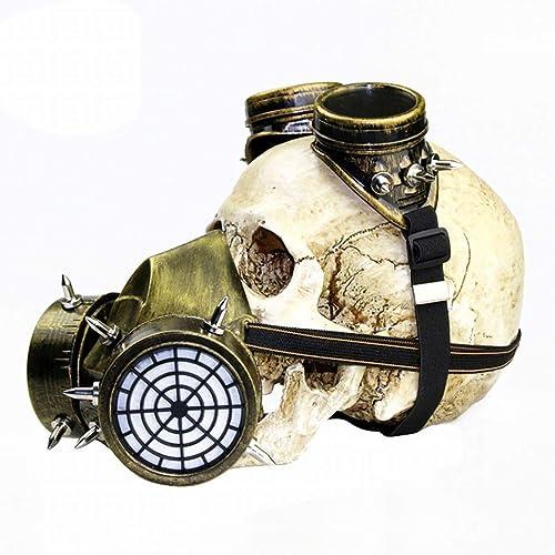 Uzanesx Steampunk Gas Mask Décoration Festival Fournitures de fête Accessoires de Cosplay