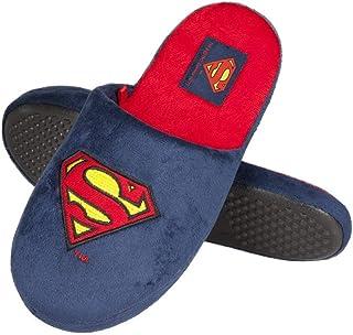 soxo Pantofole da Uomo Superman DC Comics   Misura 41-46   Peluche Pelliccia Ciabatte da Casa Comode e Morbide   Suola Ela...