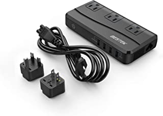 海外旅行用変圧器 変換プラグ付き 100V-240V to 100V 変換 QC3.0ポート付き 急速充電対応 ホコリ防止 感電防止 並行輸入品