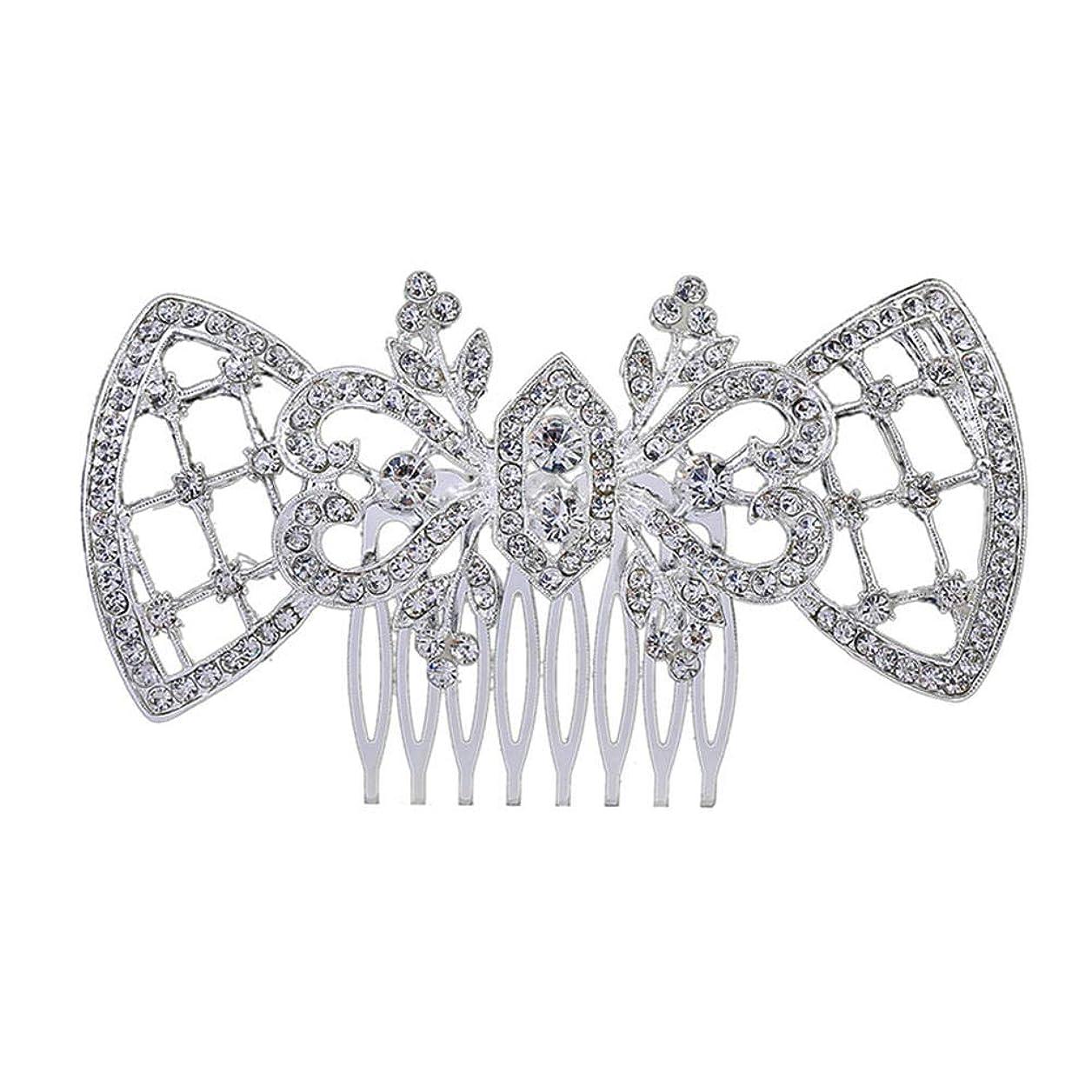 復讐周辺城髪の櫛、櫛、ブライダル髪、髪の櫛、ハート形、ラインストーンの櫛、合金の帽子、結婚式のアクセサリー