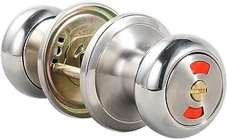 MUTEX Classic Privacy Door Knob - Indicator Door Knob - Thumbturn Indicator - Polished Chrome