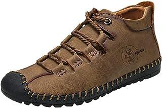 Zapatos para Hombre Suave Vintage Zapatillas de caña alta Al aire libre Ultraligeros Botas de combate de ante Transpirable...