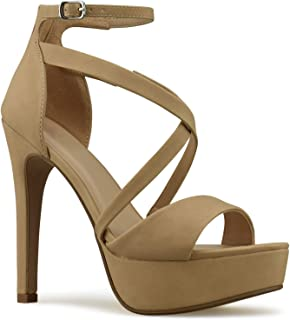 Premier Standard Classified Handle Womens Strappy Open Toe High Chunky Heel - Sexy Stacked Heel Sandal - Cute Strappy Shoe